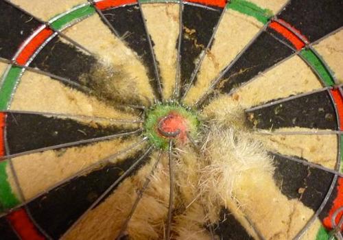 Slijtage dartbord voorkomen - Darts Experts.nl